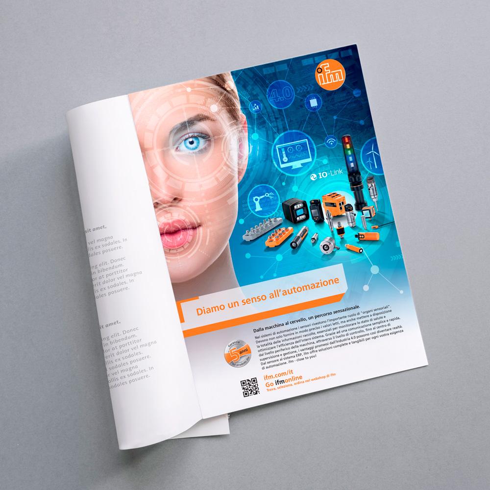 pubblicità ifm electronics su rivista