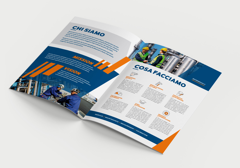 Brochure Meterservice aperta formato A4