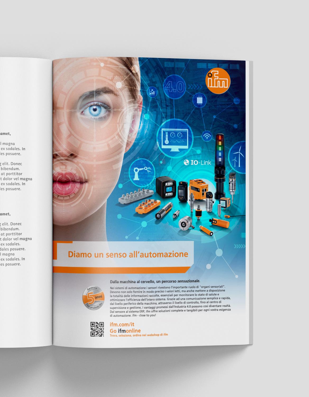 magazine con pubblicità ifm electronics