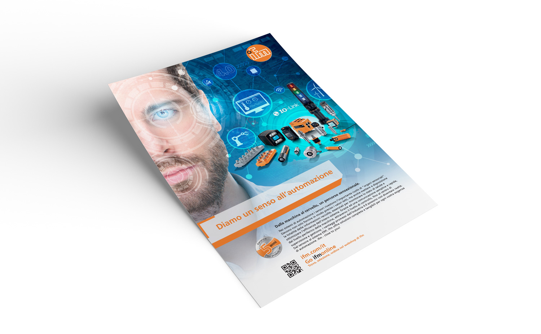 poster con pubblicità ifm electronics