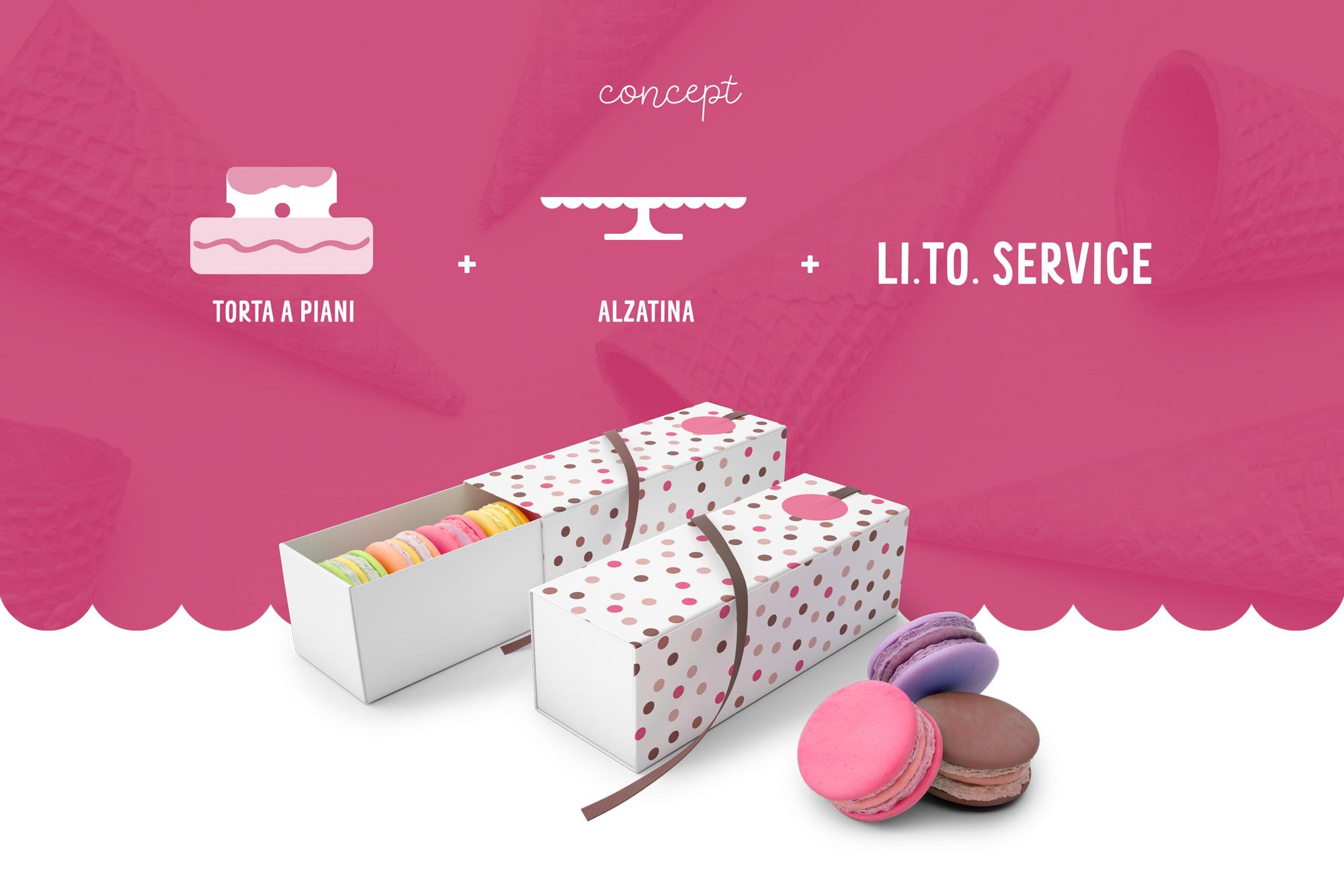 concept logo LITO Service e scatola macaron