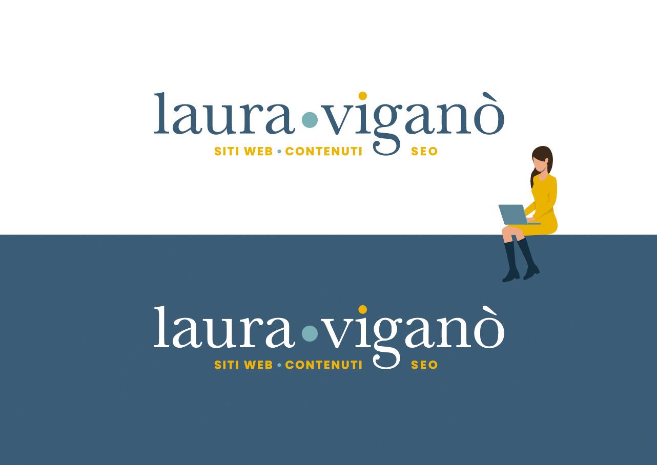 Logo Laura Viganò Sitiecontenuti con piccolo disegno donna