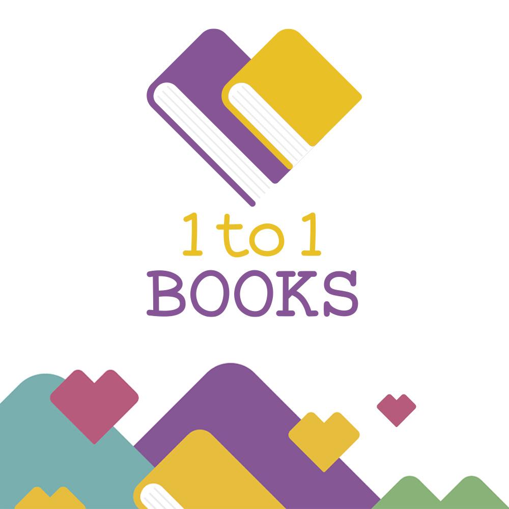 logo 1to1books con decori