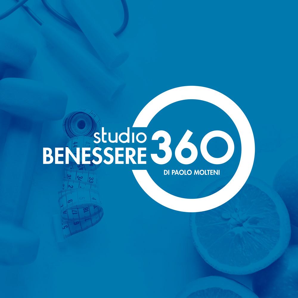 logo Studio Benessere360 su sfondi blu