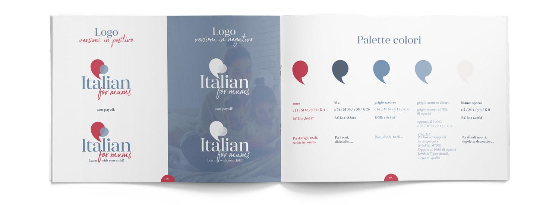brand manual italianformums che mostra logo e colori