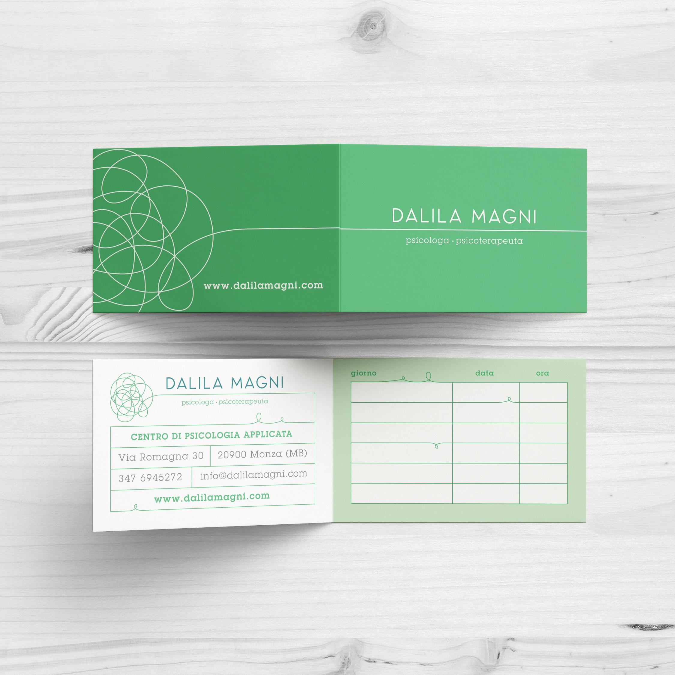 biglietti da visita Dalila Magni psicologa