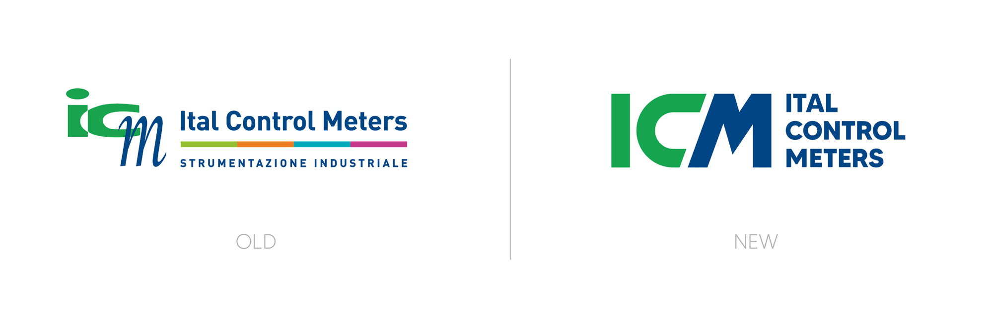versione precedente e attuale del logo Ital Control Meters