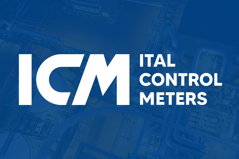 logo Ital Control Meters su sfondo blu