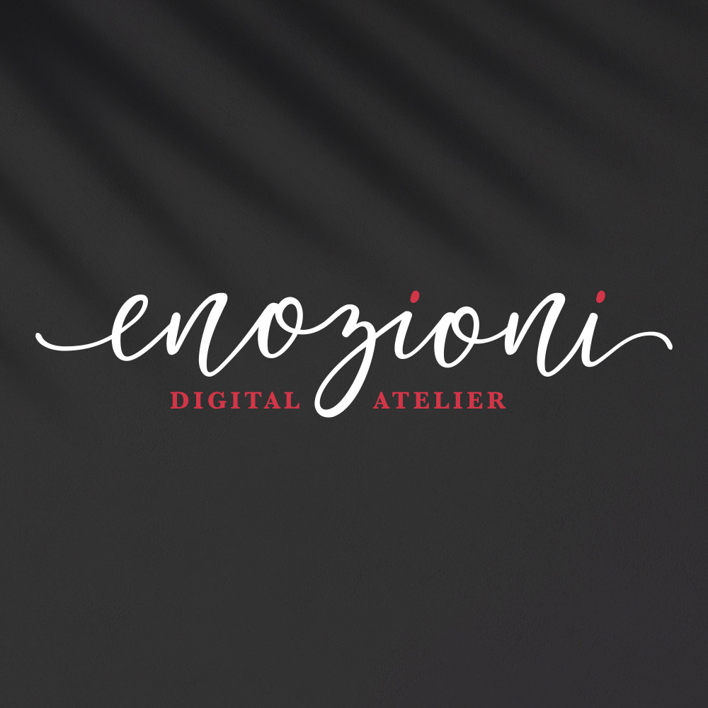 logo enozioni digital atelier negativo