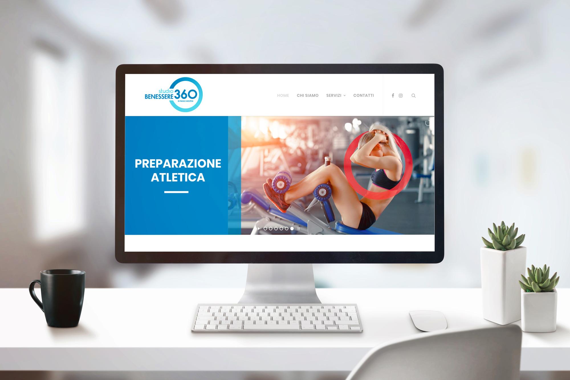 computer con homepage del sito web Studio Benessere360
