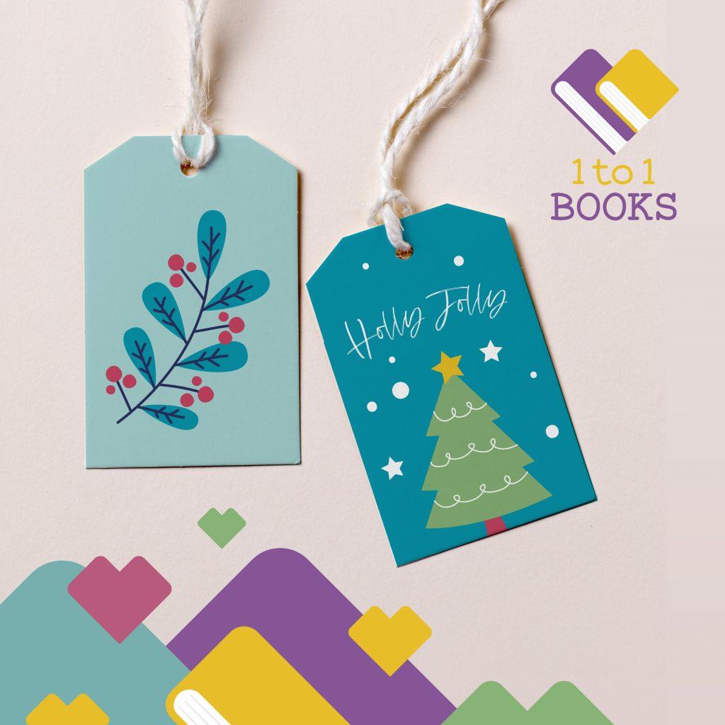 biglietti con grafica di Natale di 1to1books