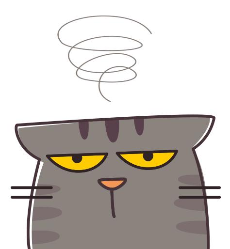 disegno di gatto scocciato