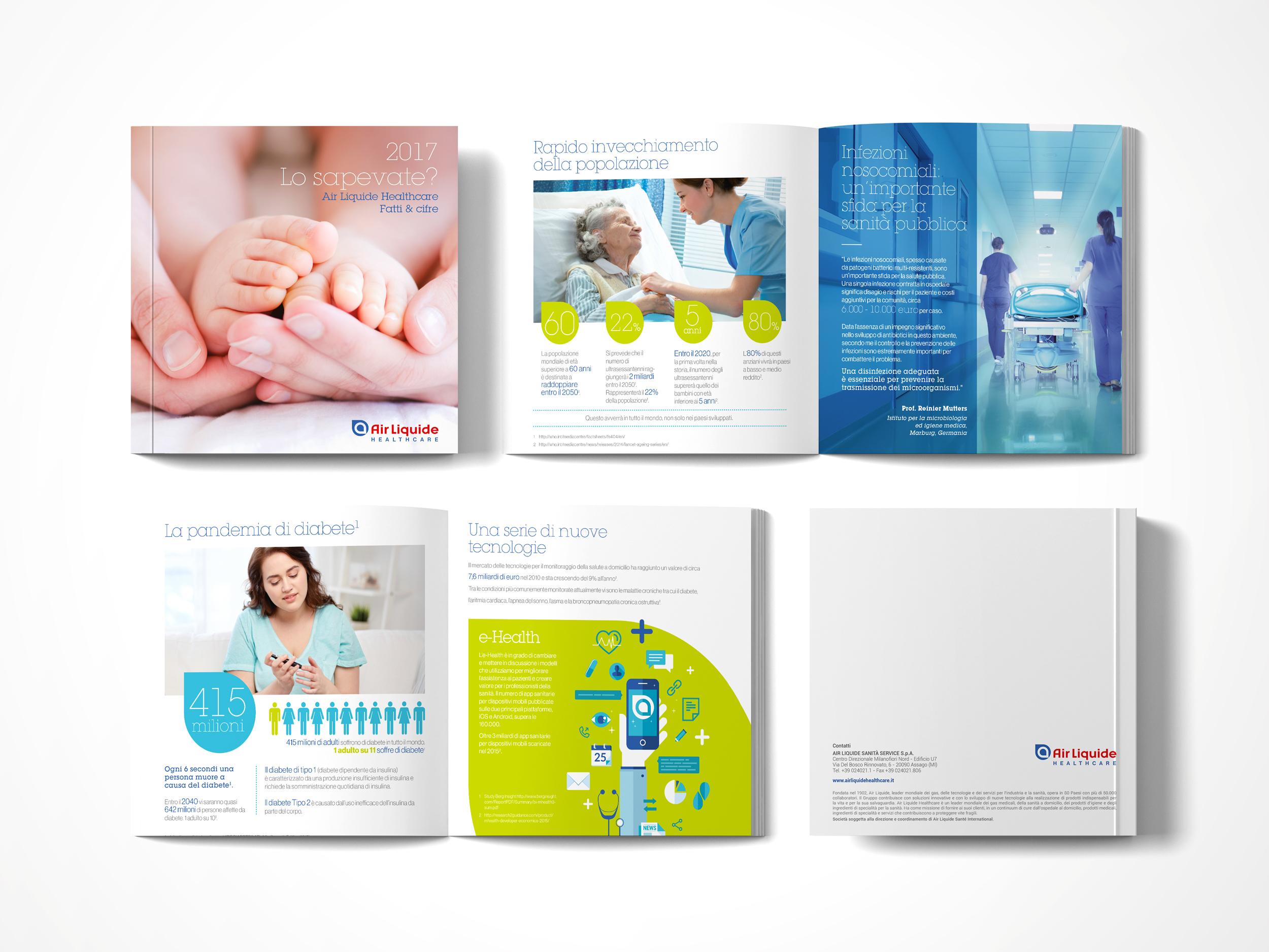 brochure istituzionale, 4 facciate, cover e retro