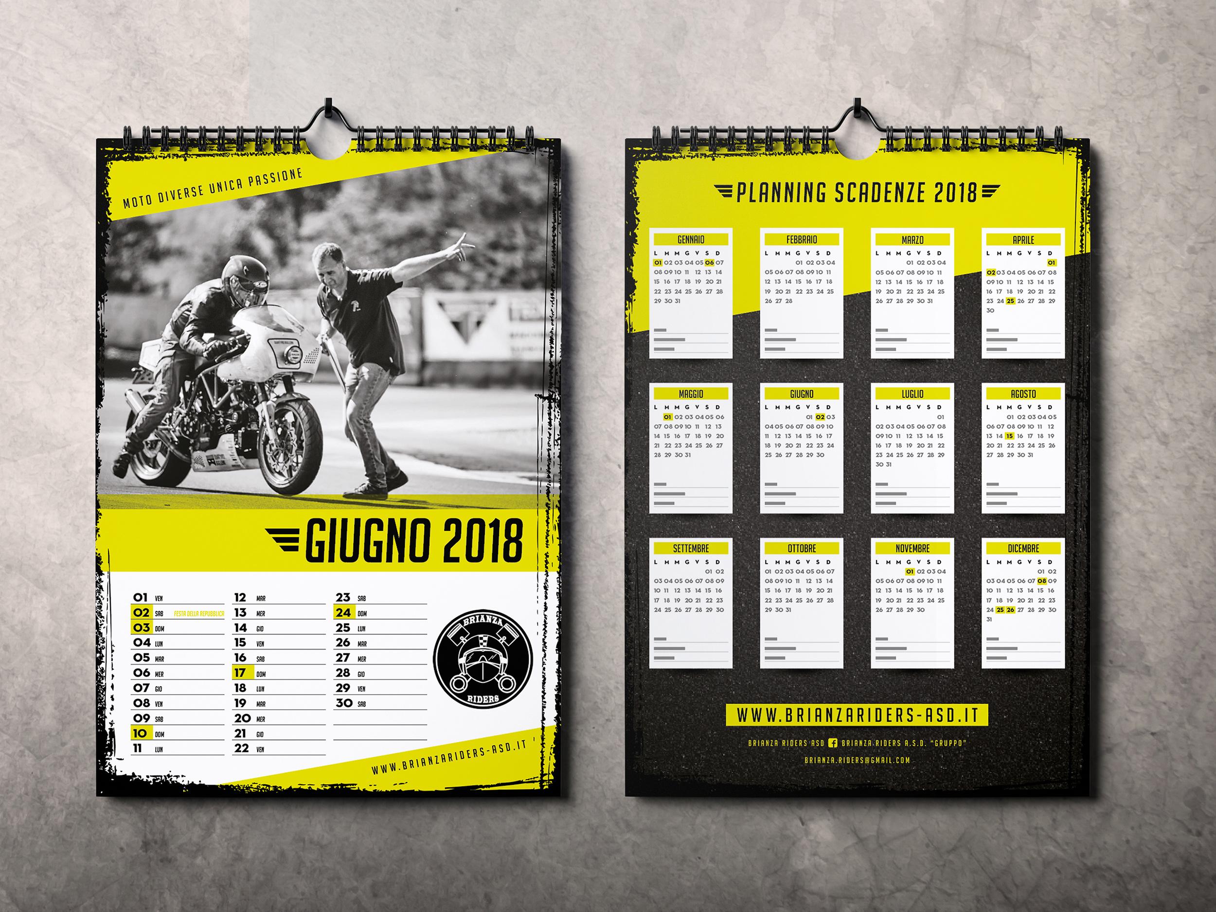 Calendario da muro A3 Brianza Riders