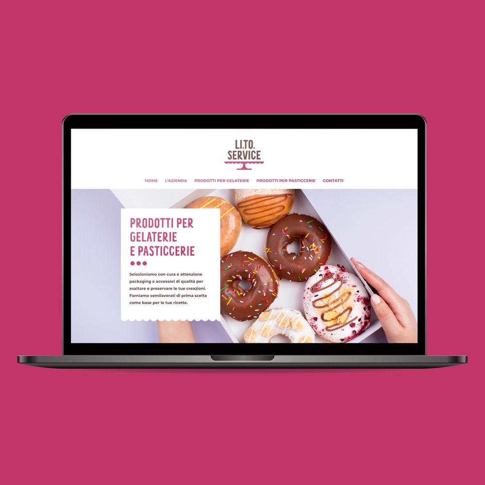 laptop che visualizza il sito di LITO Service