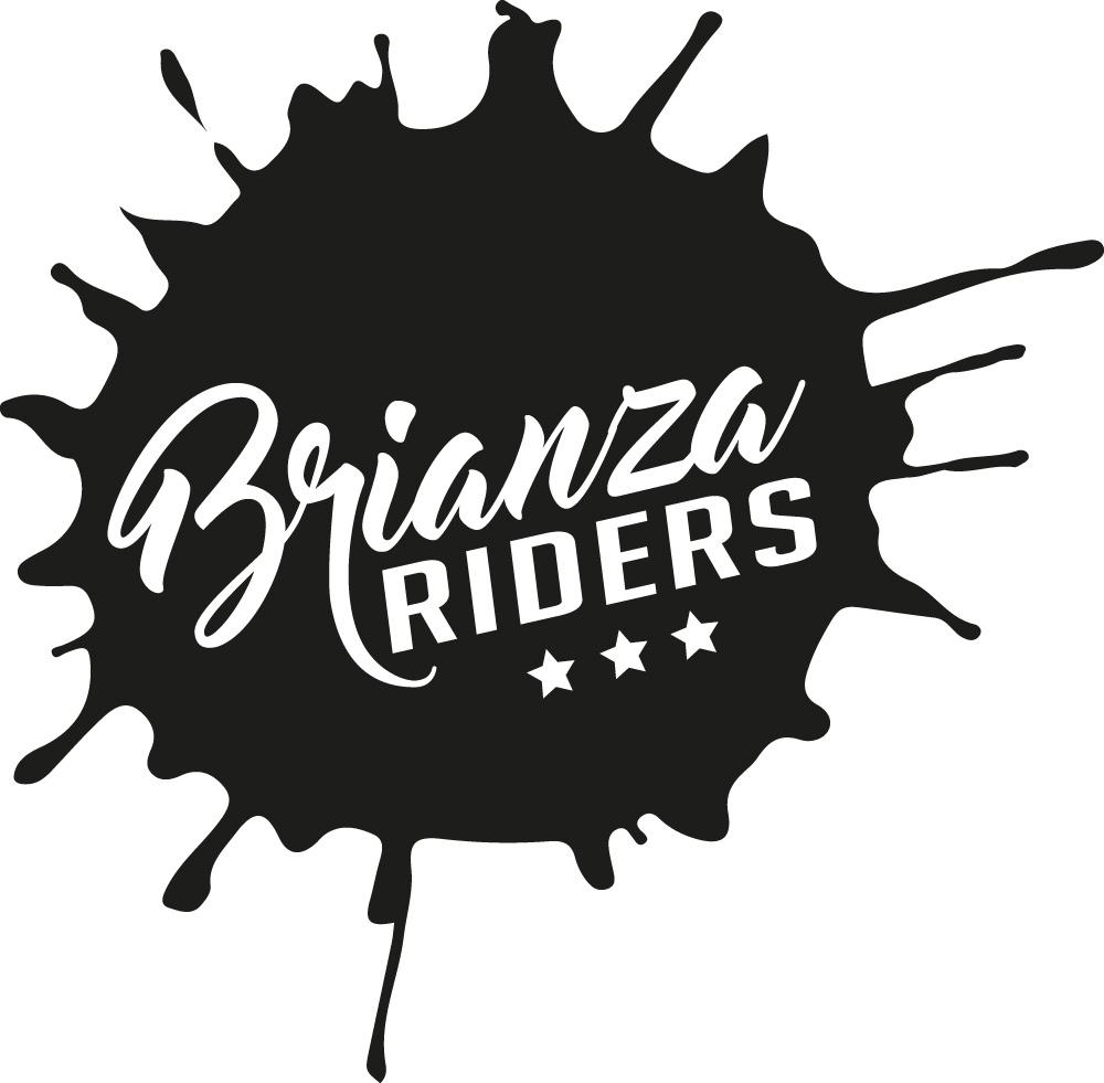 adesivo Brianzariders a forma di macchia di olio