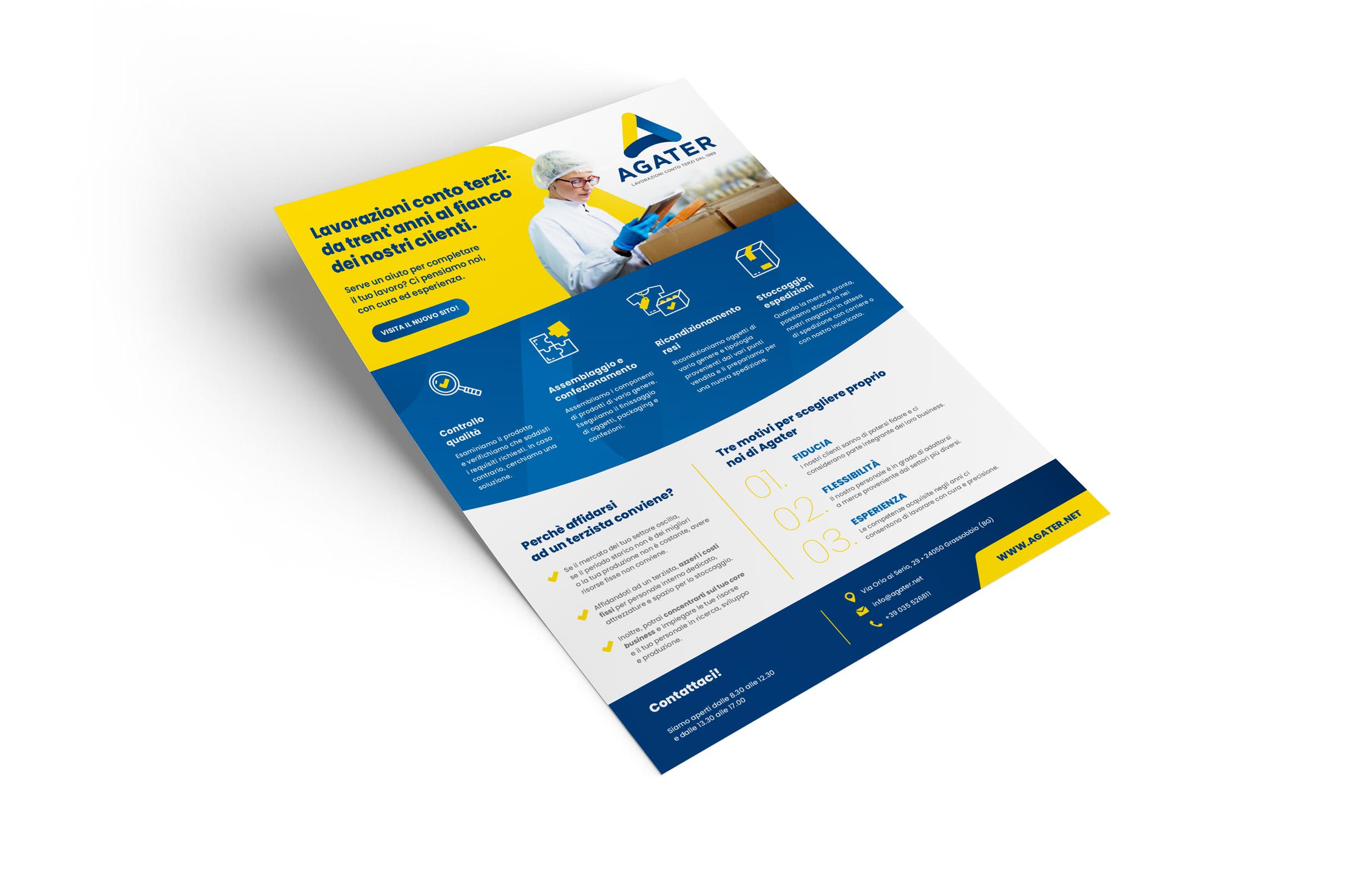 Presentazione aziendale formato A4 Agater