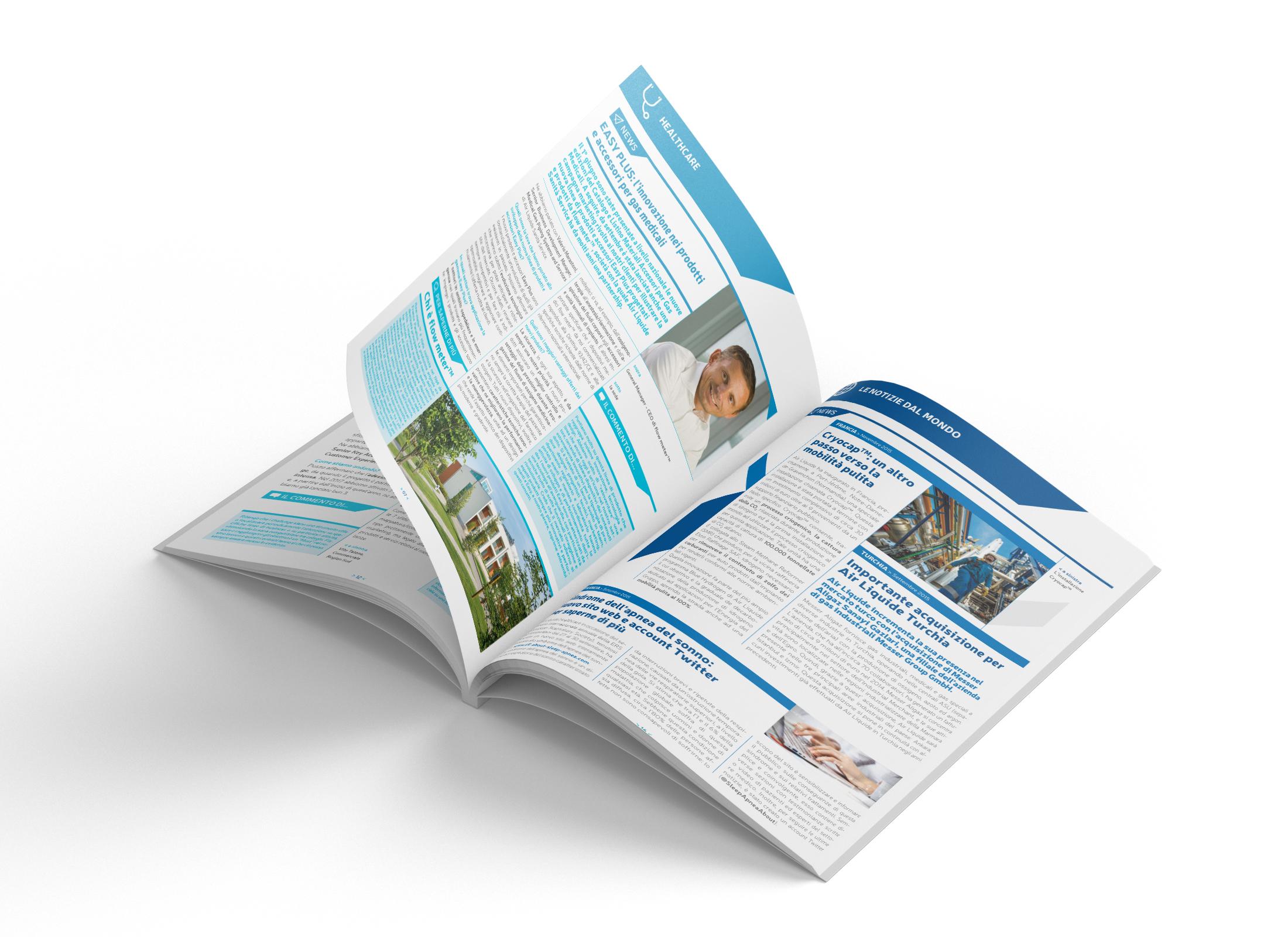 newsletter formato A4 aperta