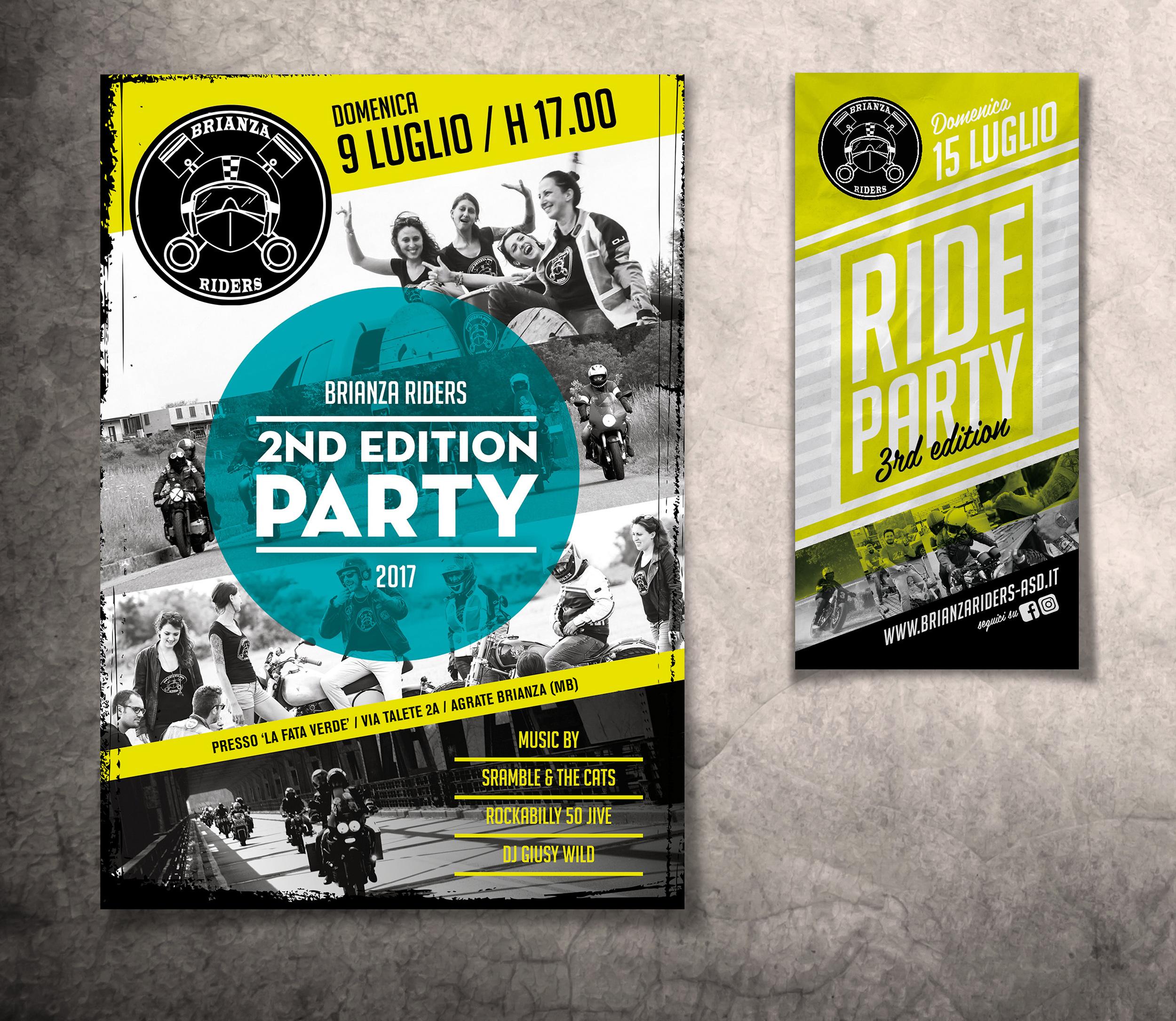 locandine Ride Party Brianza Riders