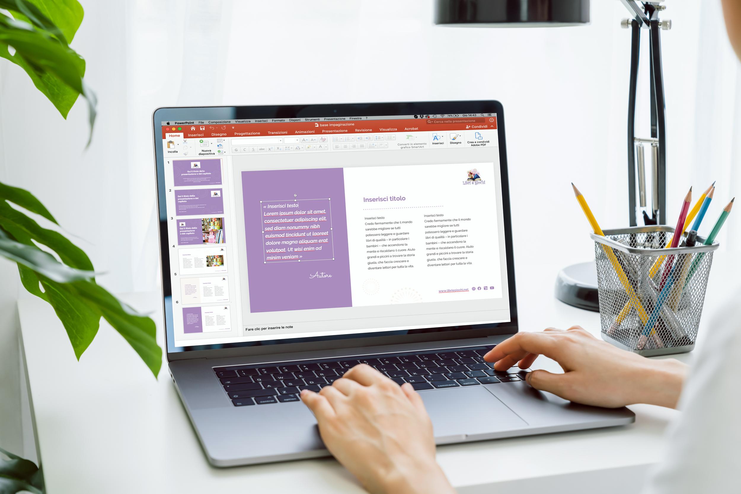 lapbook che visualizza template presentazione powerpoint libreria Libri e Giochi